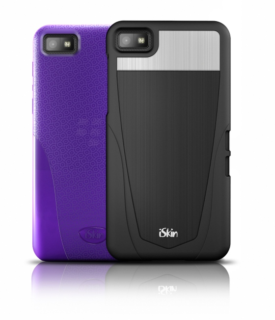 iSkin cases (Vibes & Aura) for the upcoming Blackberry Z10.(Photo Credit: iSkin)