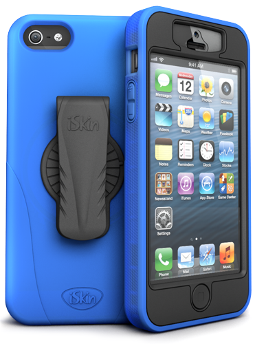 iSkin's Revo 360 for the iPhone 5 showin in blue(Photo Credit: iSkin)