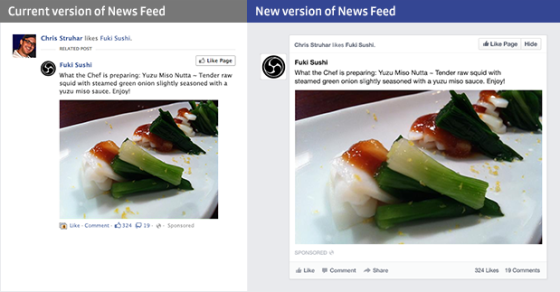 An example of larger images on the new Facebook News Feed(Photo Credit: Facebook)
