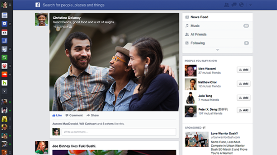 The new look to your News Feed(Photo Credit: Facebook)