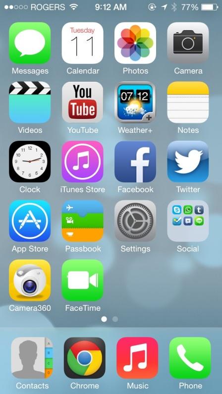 iOS 7 - Home Screen