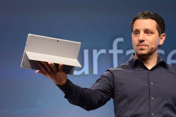 The Surface 2 introduced by Microsoft (Imaged Credit: Engadget)