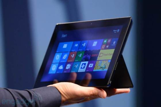 The Surface Pro 2 announced by Microsoft. (Image Credit: Engadget)
