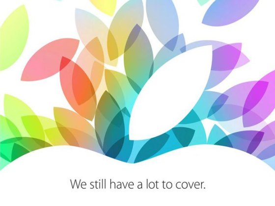 Apple's invitation regarding their press event on October 22nd