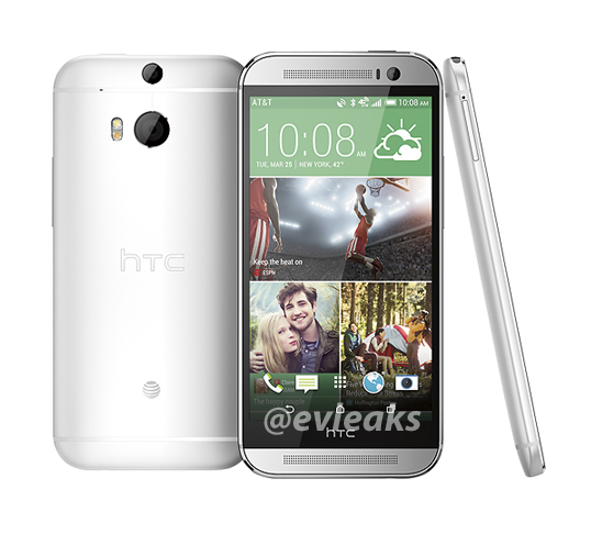 "Leaked Image of the ""New HTC One"" surfaced today. (Image Credit: @evleaks)"