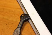 Nomad's ChargeKey (lightning cable version) fits cases on an iPad Mini