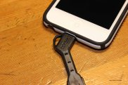 Nomad's ChargeKey (lightning cable version) fits cases on the iPod Touch