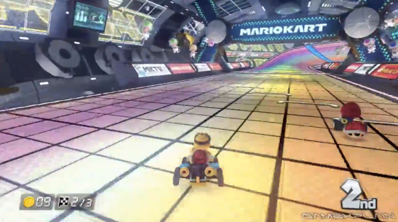 The new Rainbow Road in Mario Kart 8 (Screenshot Credit: Jordan Yep/Jordan's Tech Stop)